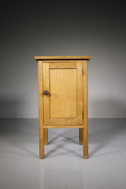 heals 1920s oak bedside cupboard