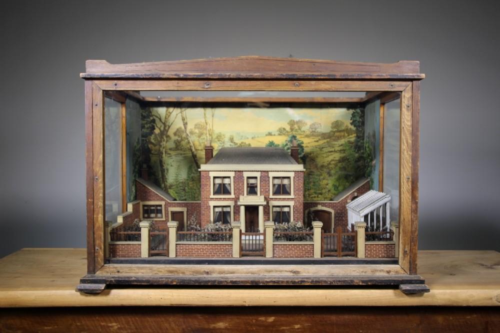 amazing 19th century english country house garden antique diorama
