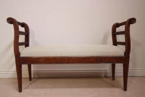 elegant 18th century french fruitwood window seat