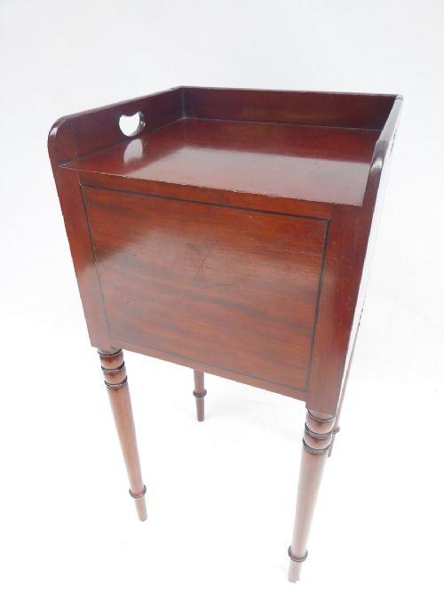 english regency bedside cabinet