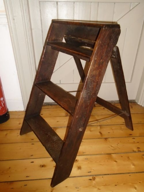 Antiques Edwardian (1901-1910) 2019 Latest Design Edwardian Step Stool