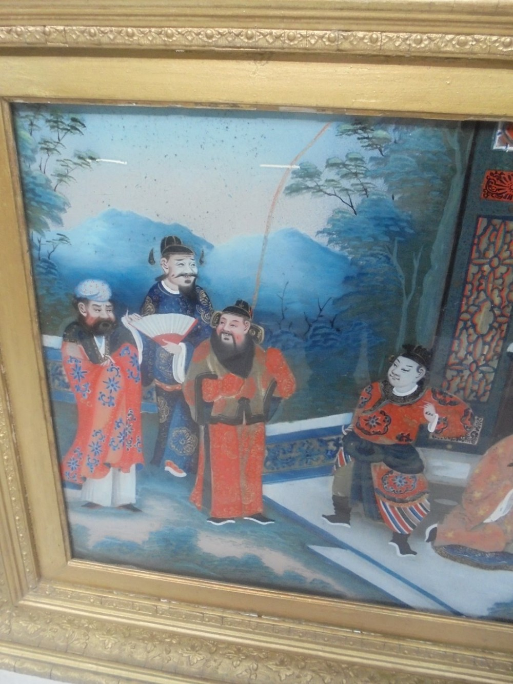 Chinese Export Reverse Glass Painting 484721 Sellingantiques Co Uk