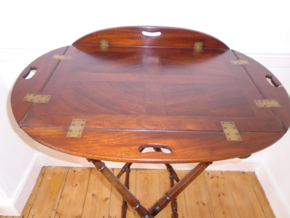regency butlers tray on stand