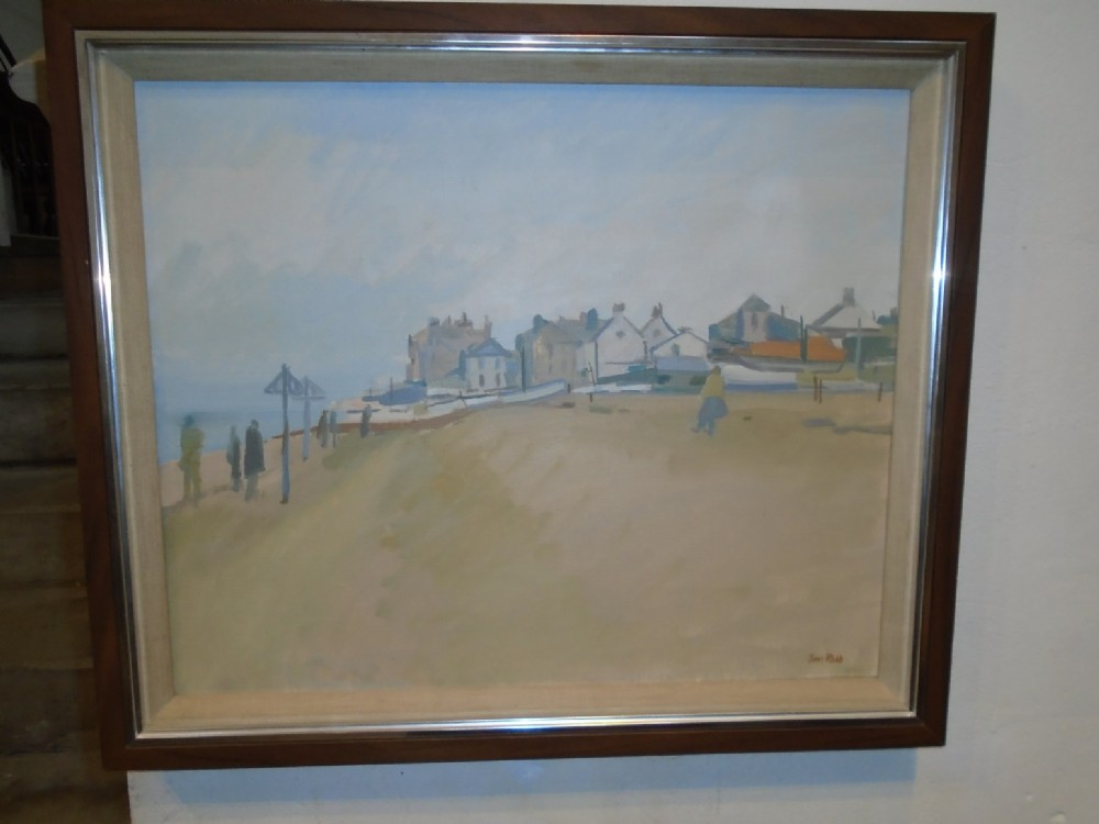 oil painting aldeburgh village morning by tom robb