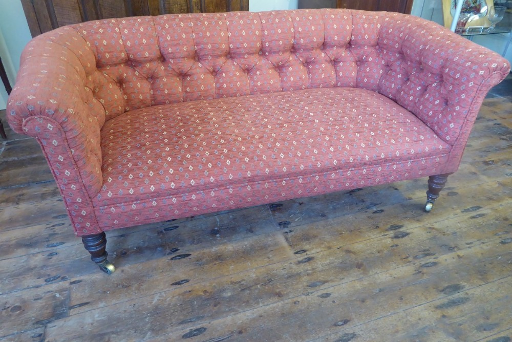 neat 19th century chesterfield sofa