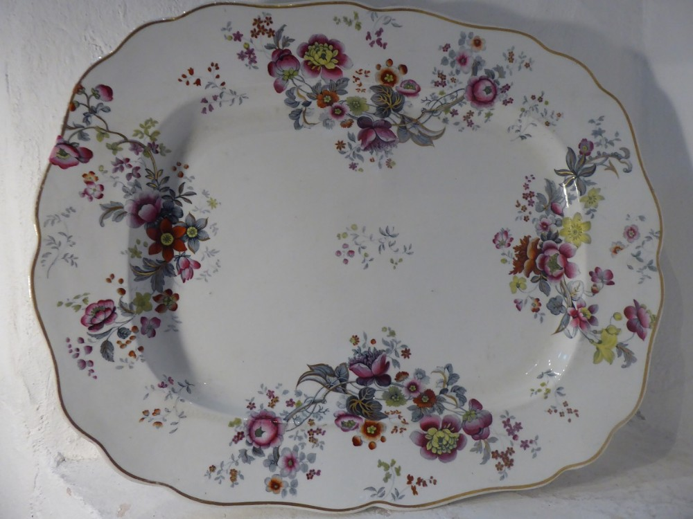 large chamberlain worcester platter