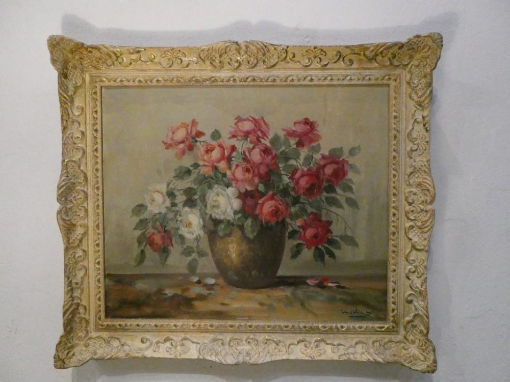 mid century oil on canvas painting by martin lenterman