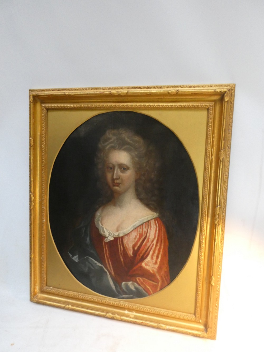 18th c oil painting portrait of a lady