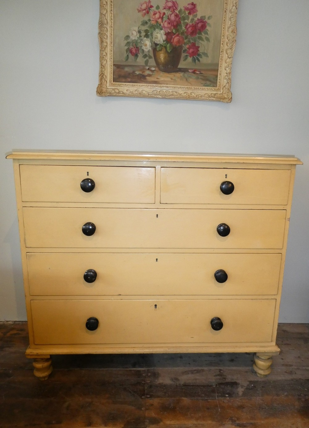 19thc painted chest of drawers