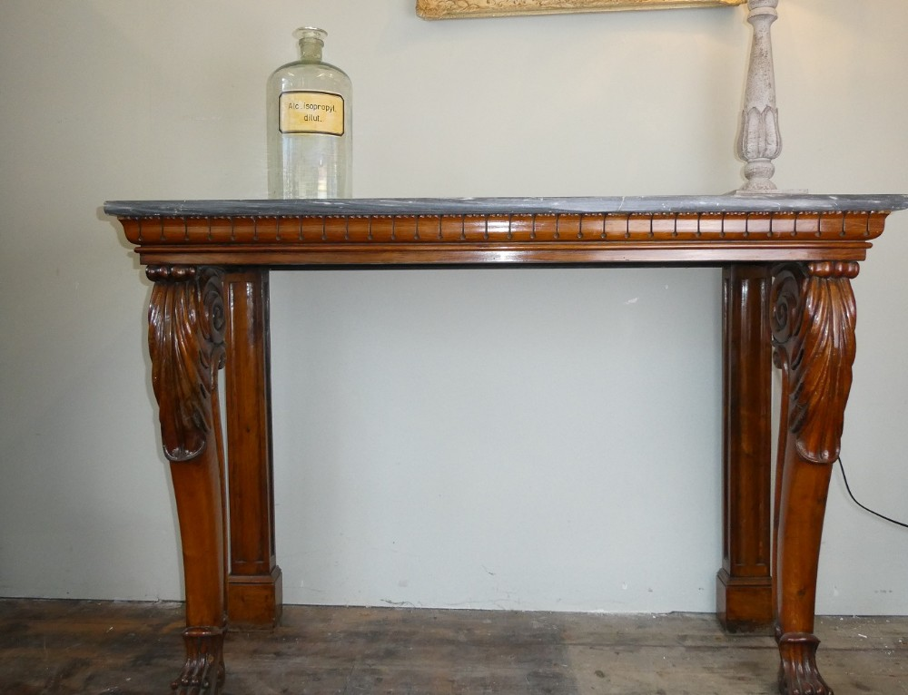scottish early 19thc oak console table