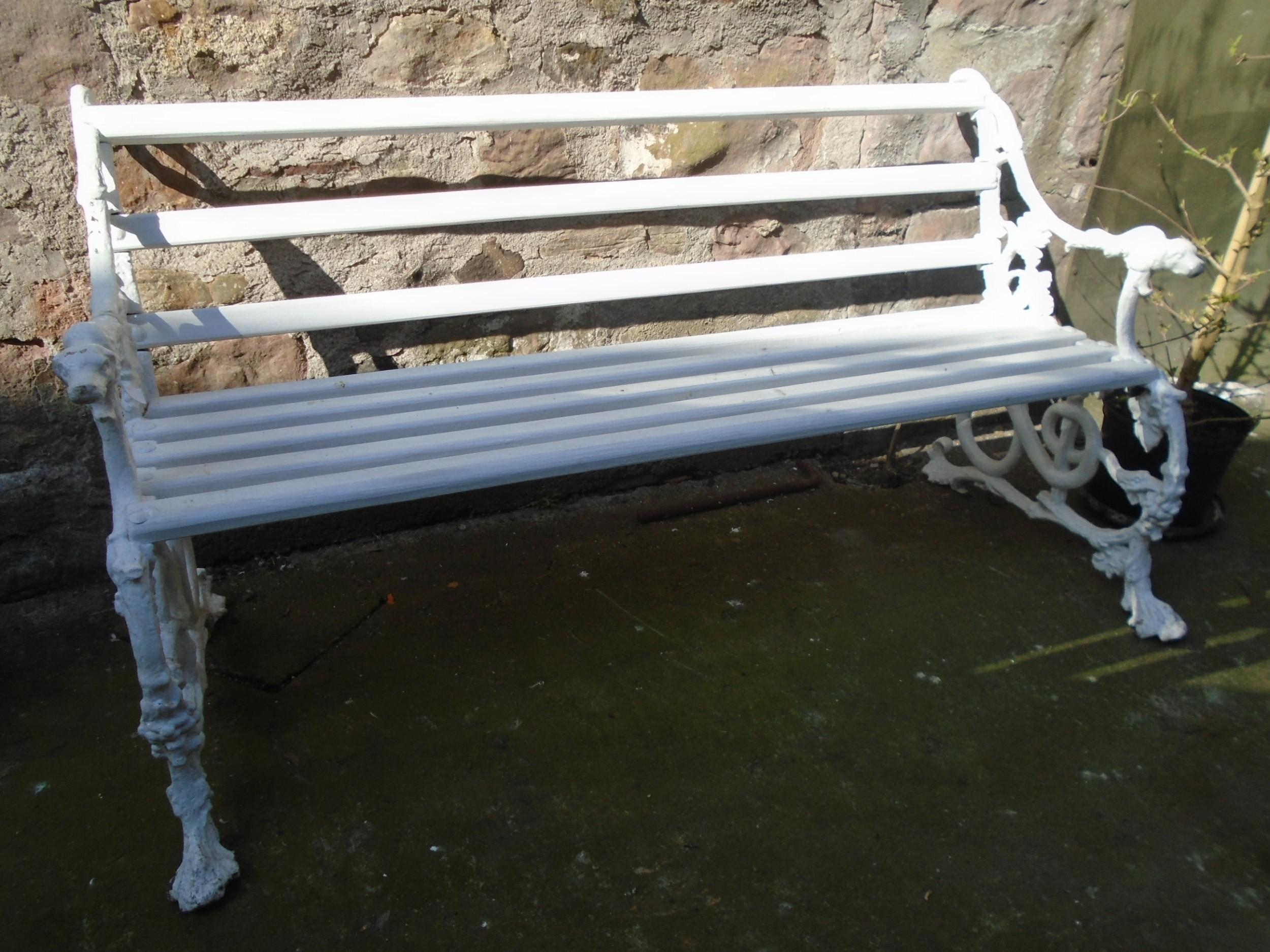 19th century garden seat