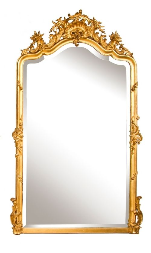an antique overmantle or wall mirror in perfect original condition