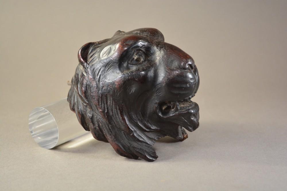 a fine english antique lions head corbel