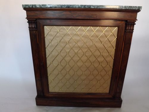 c19th regency period rosewood side cabinet
