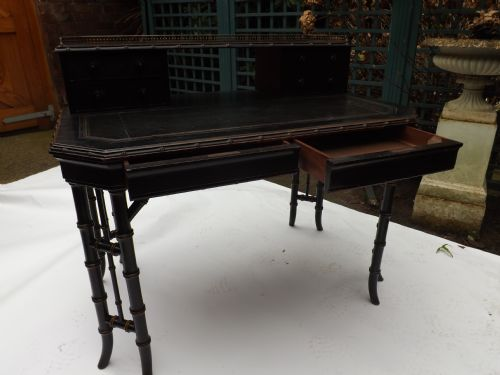 late c19th aesthetic movement writing table by howard and sons