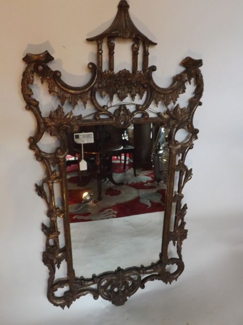 c19th 'chinese chippendale'style mirror