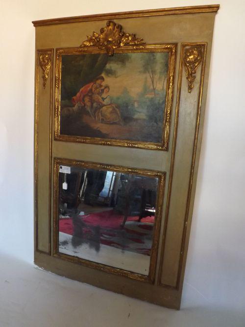 c19th french 'trumeau' mirror