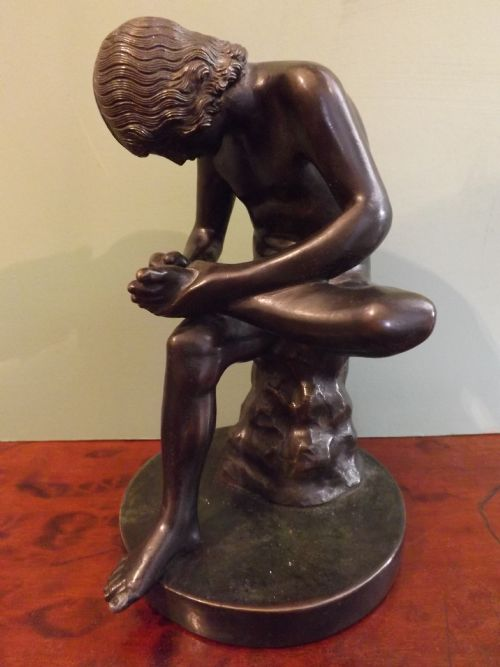 c19th 'grand tour' souvenir bronze figure spinario