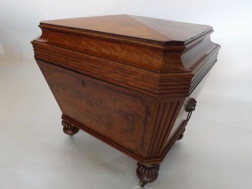 c19th regency period mahogany cellarette