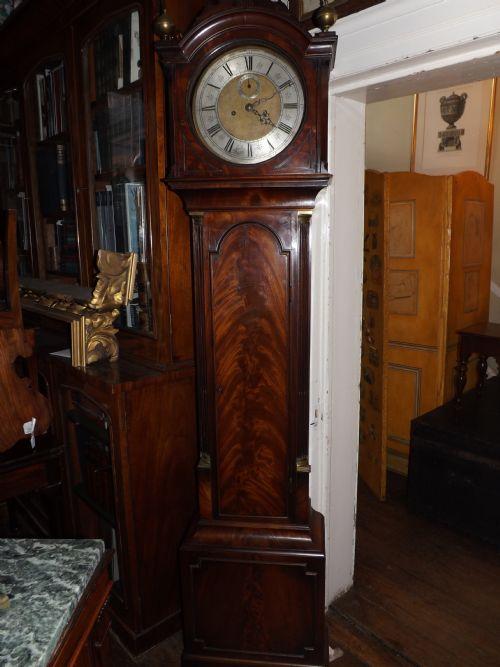 c18th george iii period mahogany longcase clock