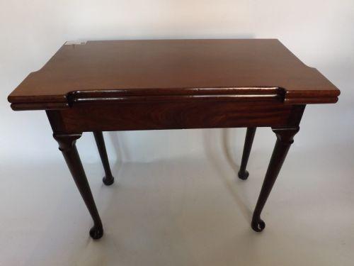 c18th george ii period mahoganyred walnut card table