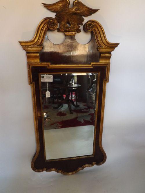 c19th george ii style walnut and parcel gilt mirror