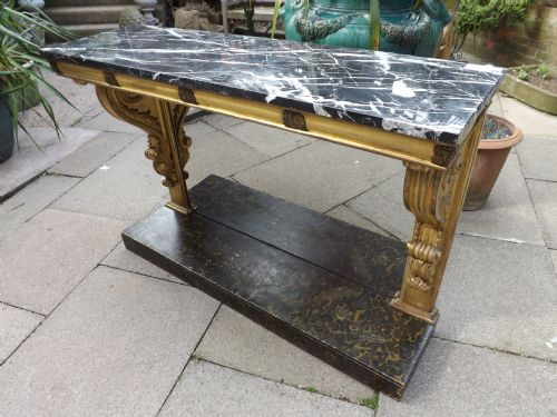 c19th regency period giltwood console table