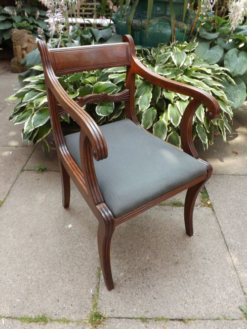 early c19th regency period mahogany armchair