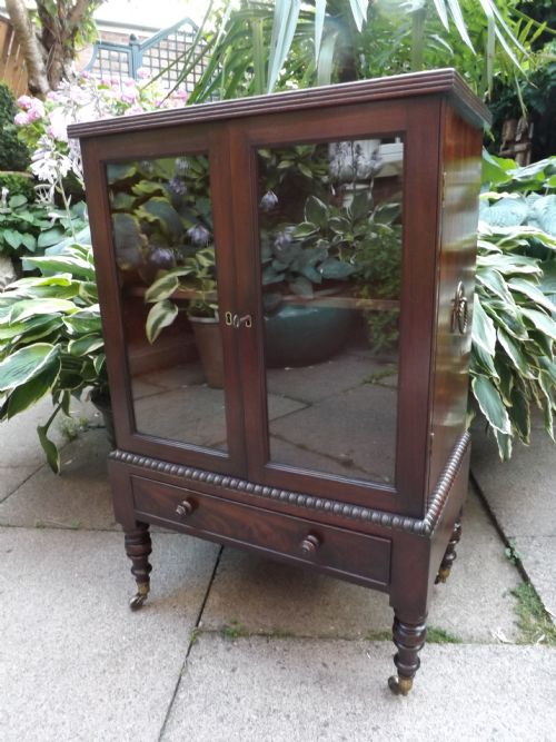 c19th regency period mahogany dwarf cabinet