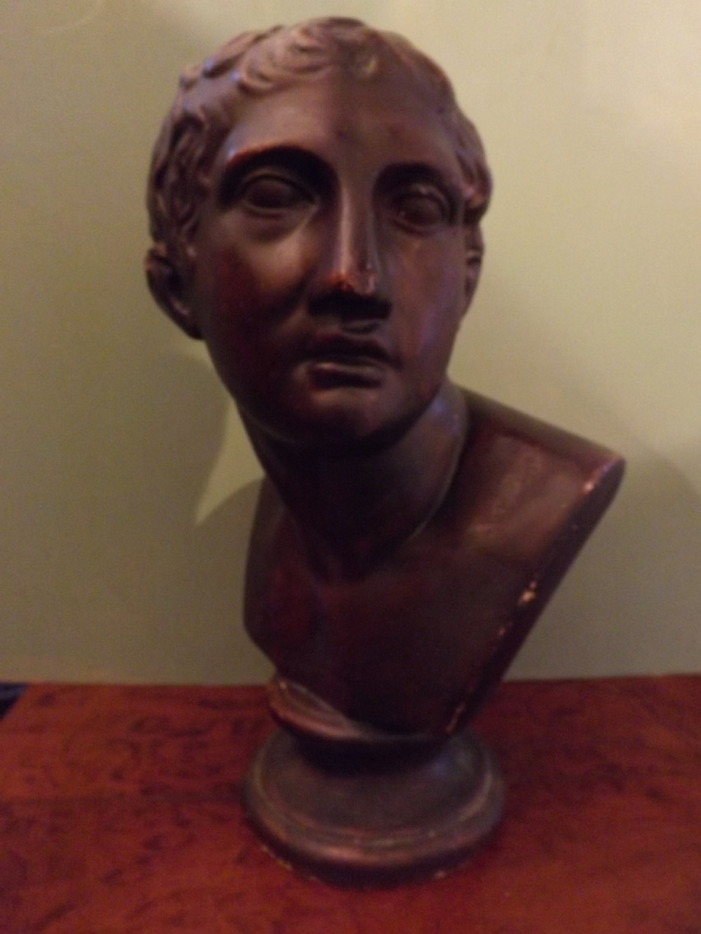 c19th plaster library bust of 'cincinnatus'