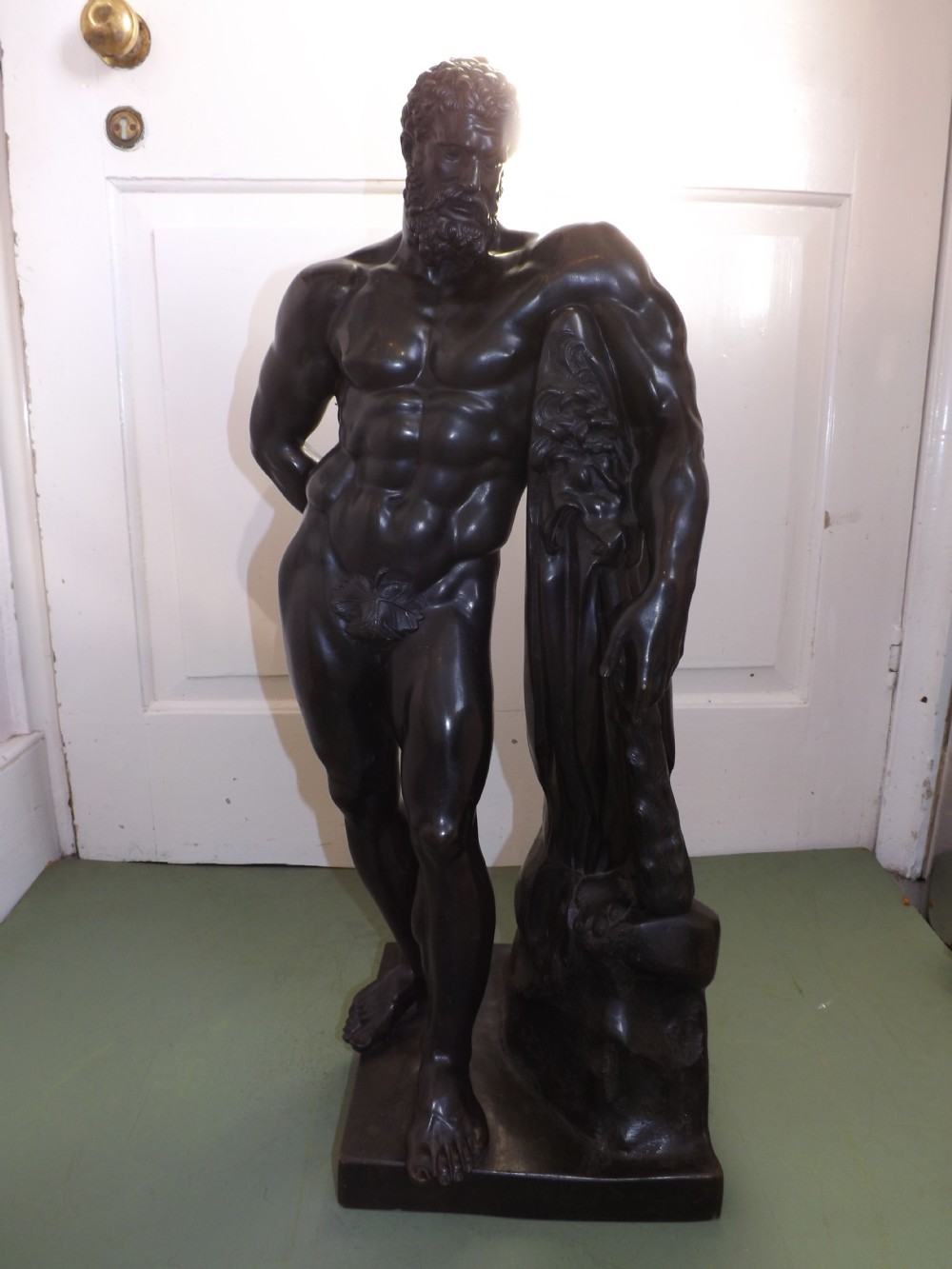early c19th bronze 'grand tour' souvenir sculpture of the farnese hercules
