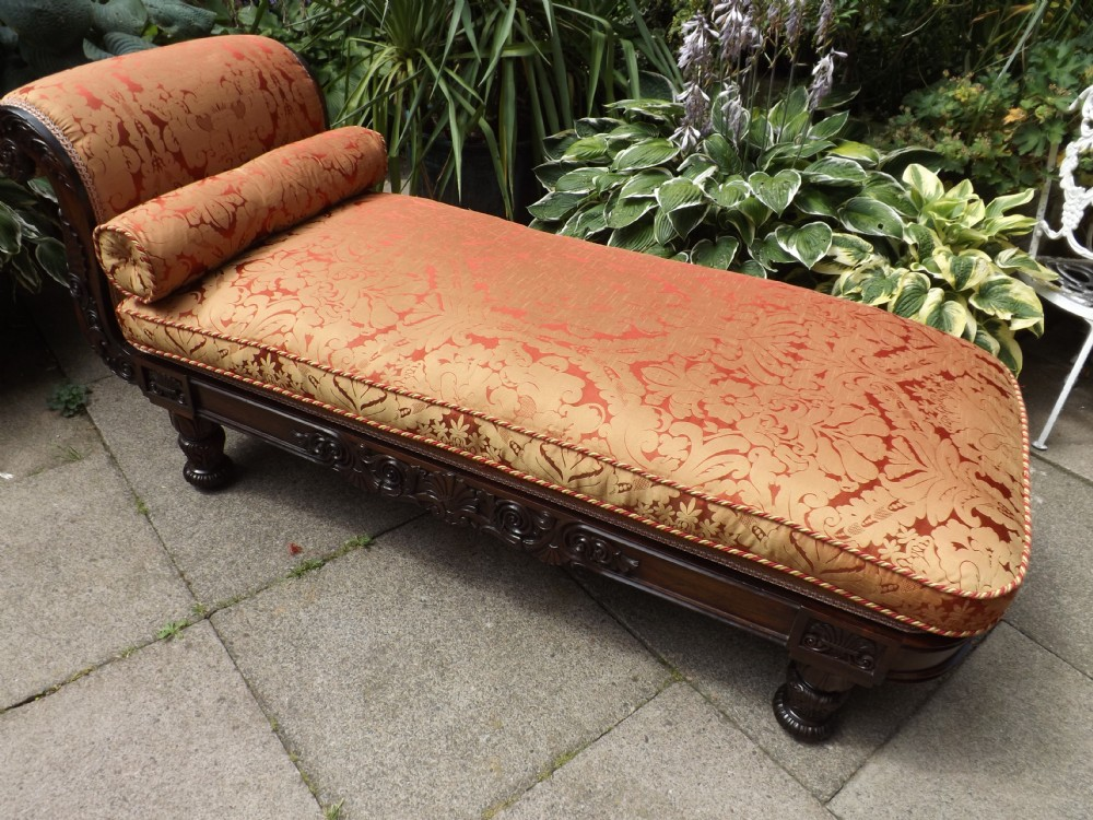 c19th william iv period rosewoodframed daybed chaiselongue in the manner of gillows of lancaster