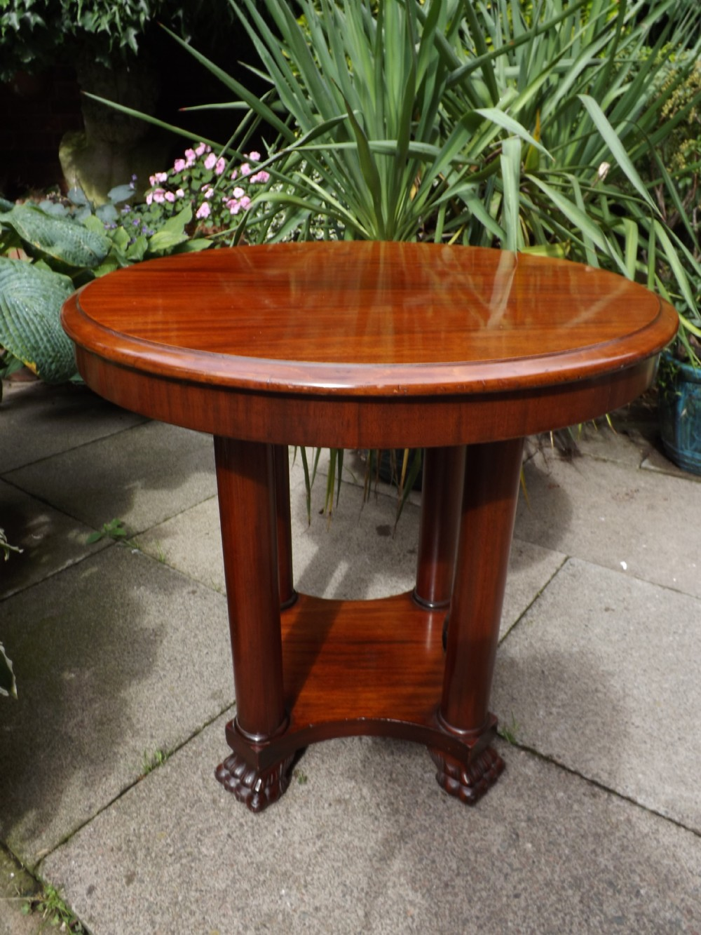 early c19th french charles x period empiredesign mahogany 'gueridon'