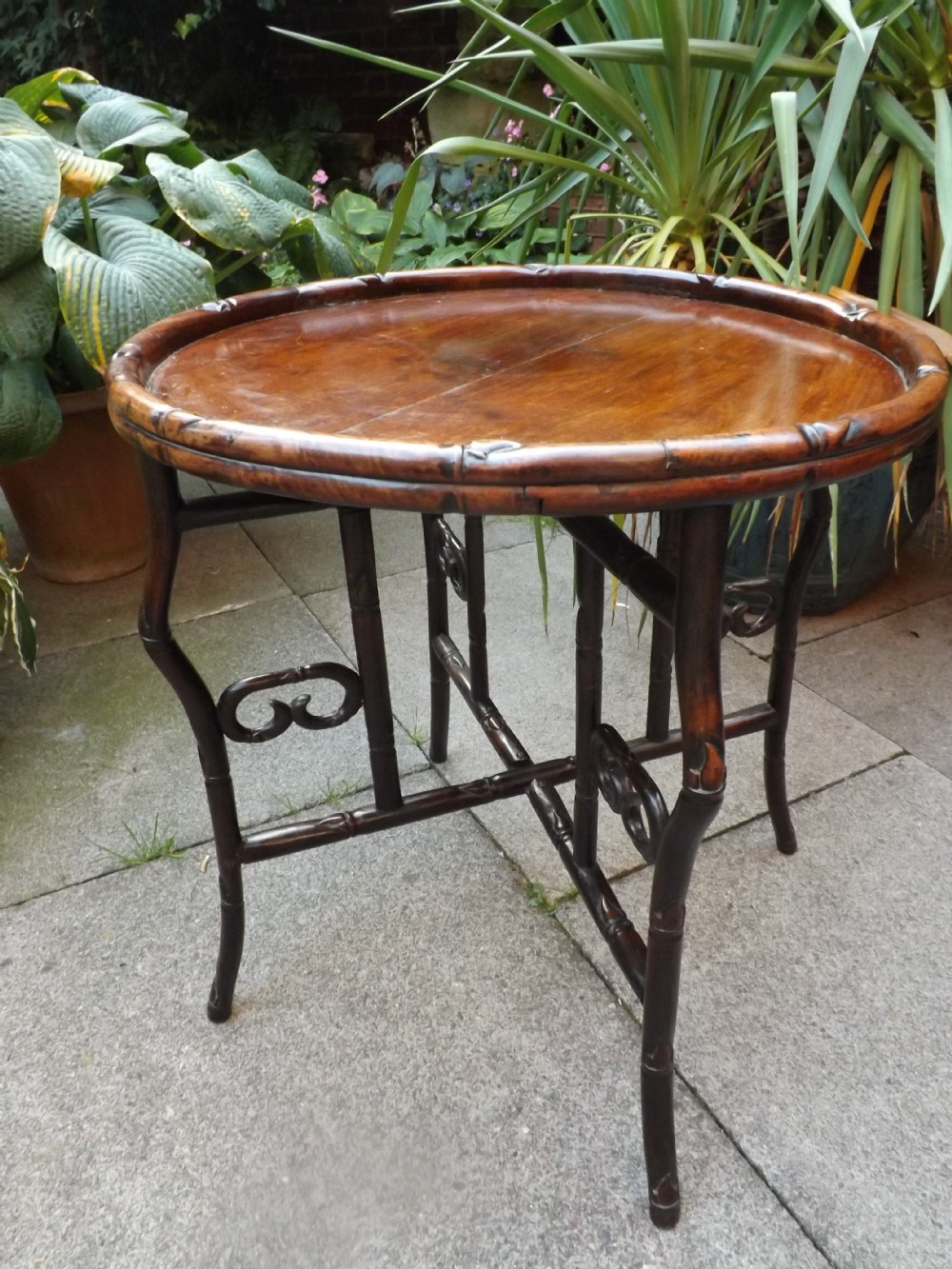 late c19th chinese 'qing' dynasty circular hardwood occasional table