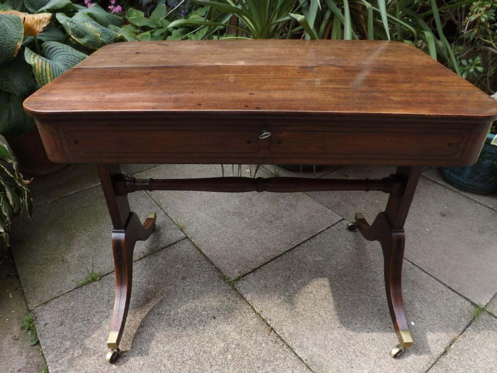 c19th regency period mahogany 'metamorphic' writing table