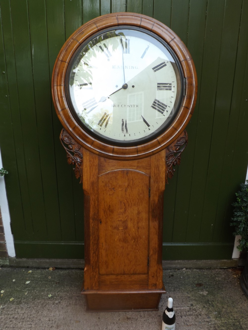 monumental scale c19th victorian period oakcased wallclock