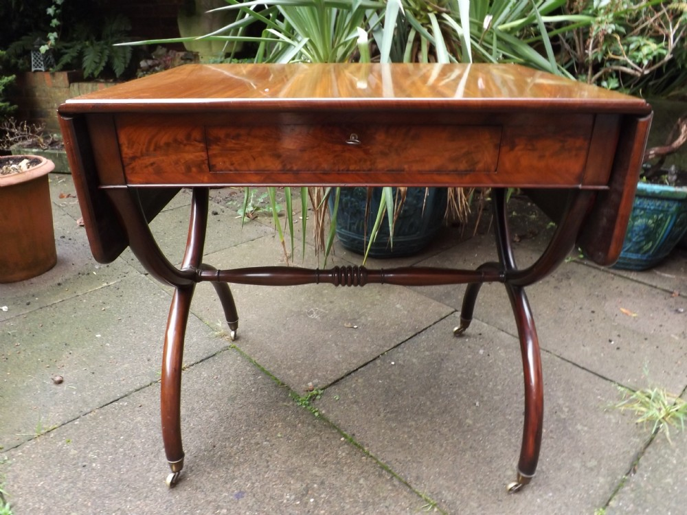 early c19th french charles x period mahogany sofa table