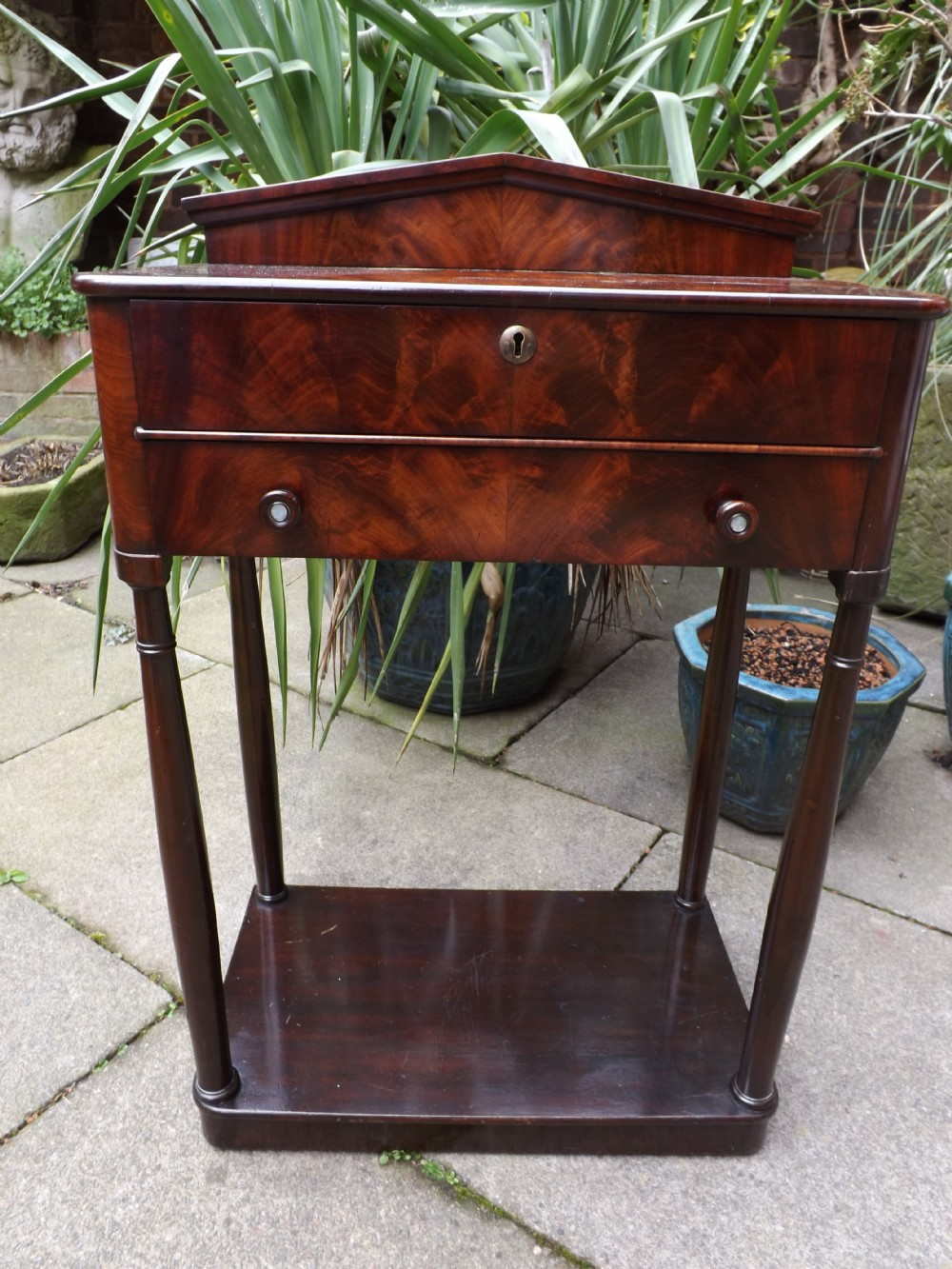 early c19th french restaurationperiod mahogany 'tableenchiffoniere'