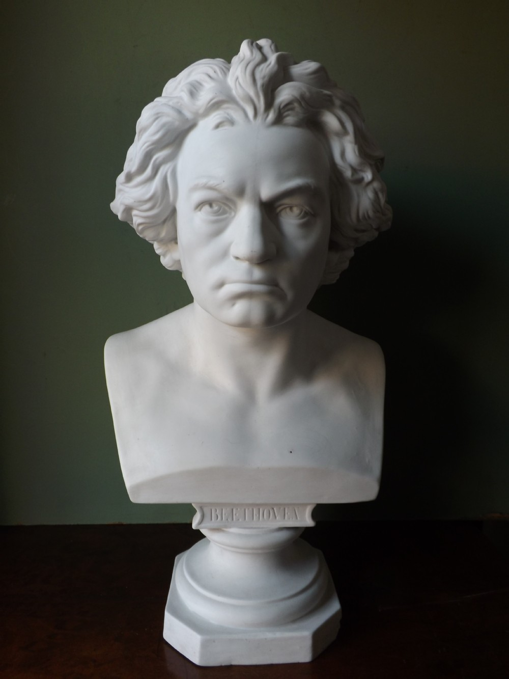 c19th parianware bust study of beethoven