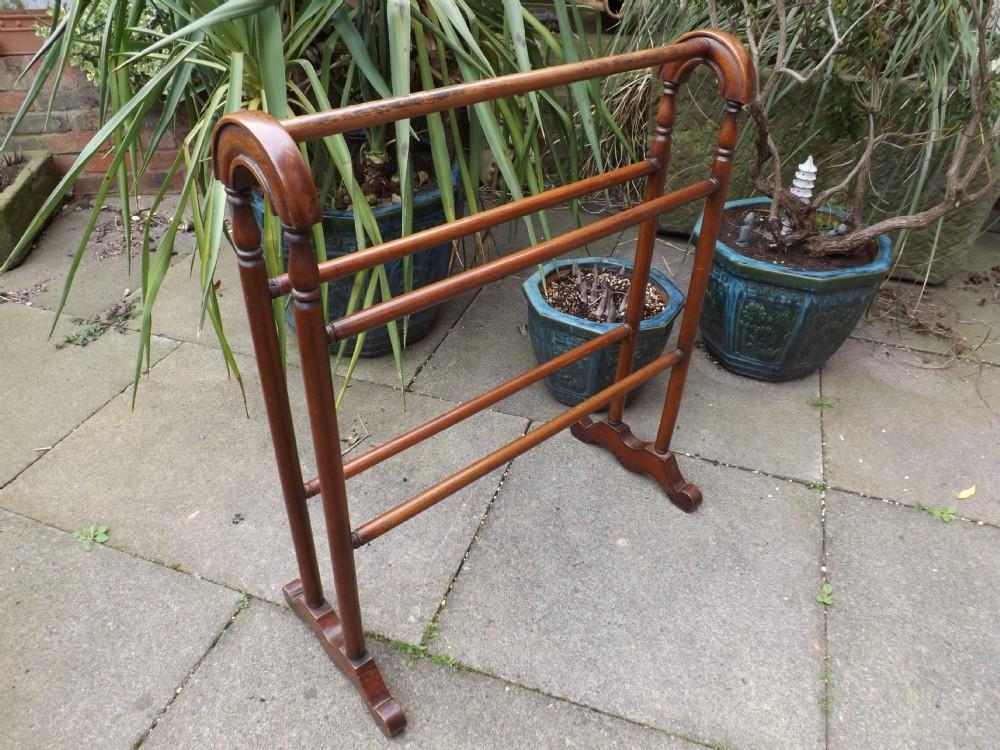 mid c19th victorian period mahogany towelgarment rail