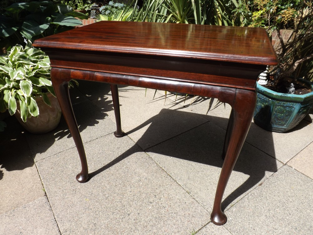 mid c18th george ii period mahogany centreside table