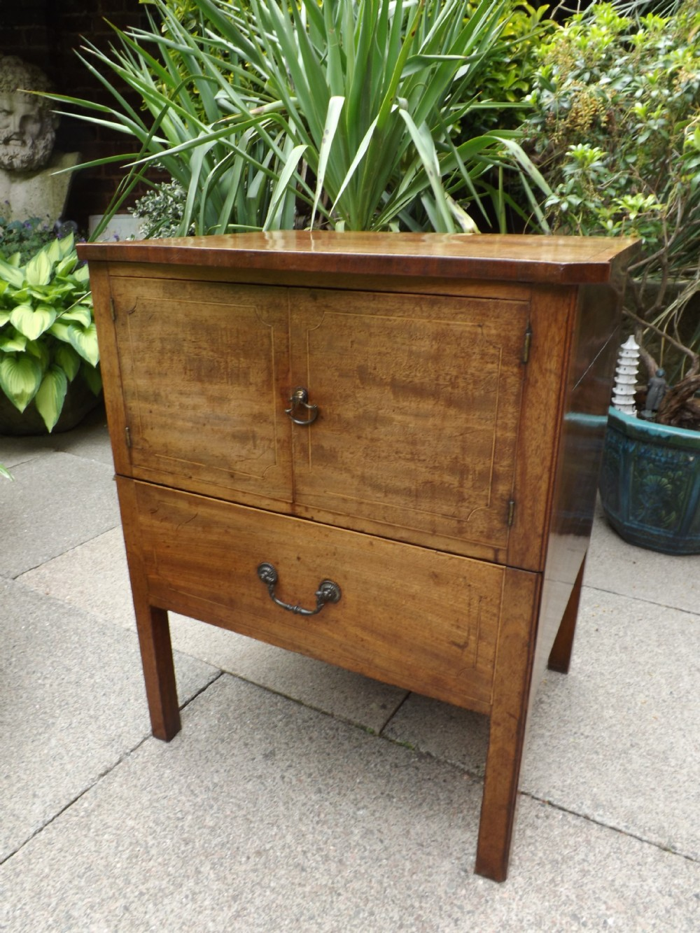 late c18th george iii period mahogany bedside cupboard nightcommode
