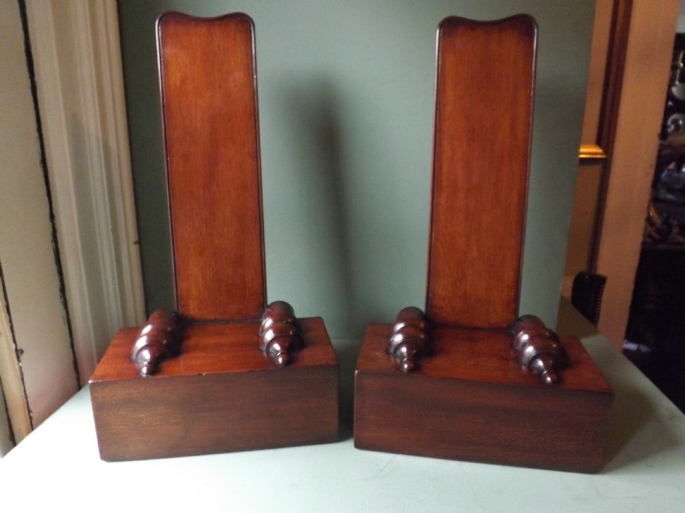 rare pair of early c19th george iv period mahogany salver stands almost certainly attributable to gillowslancaster