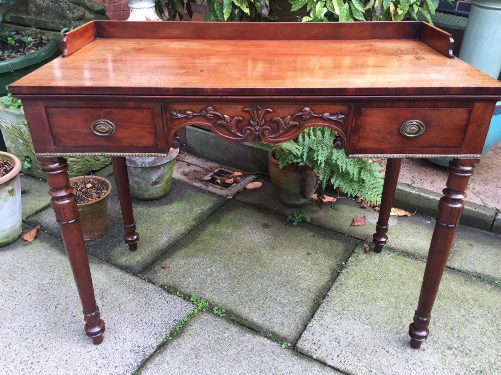 c19th william iv period mahogany kneehole dressing or writing table