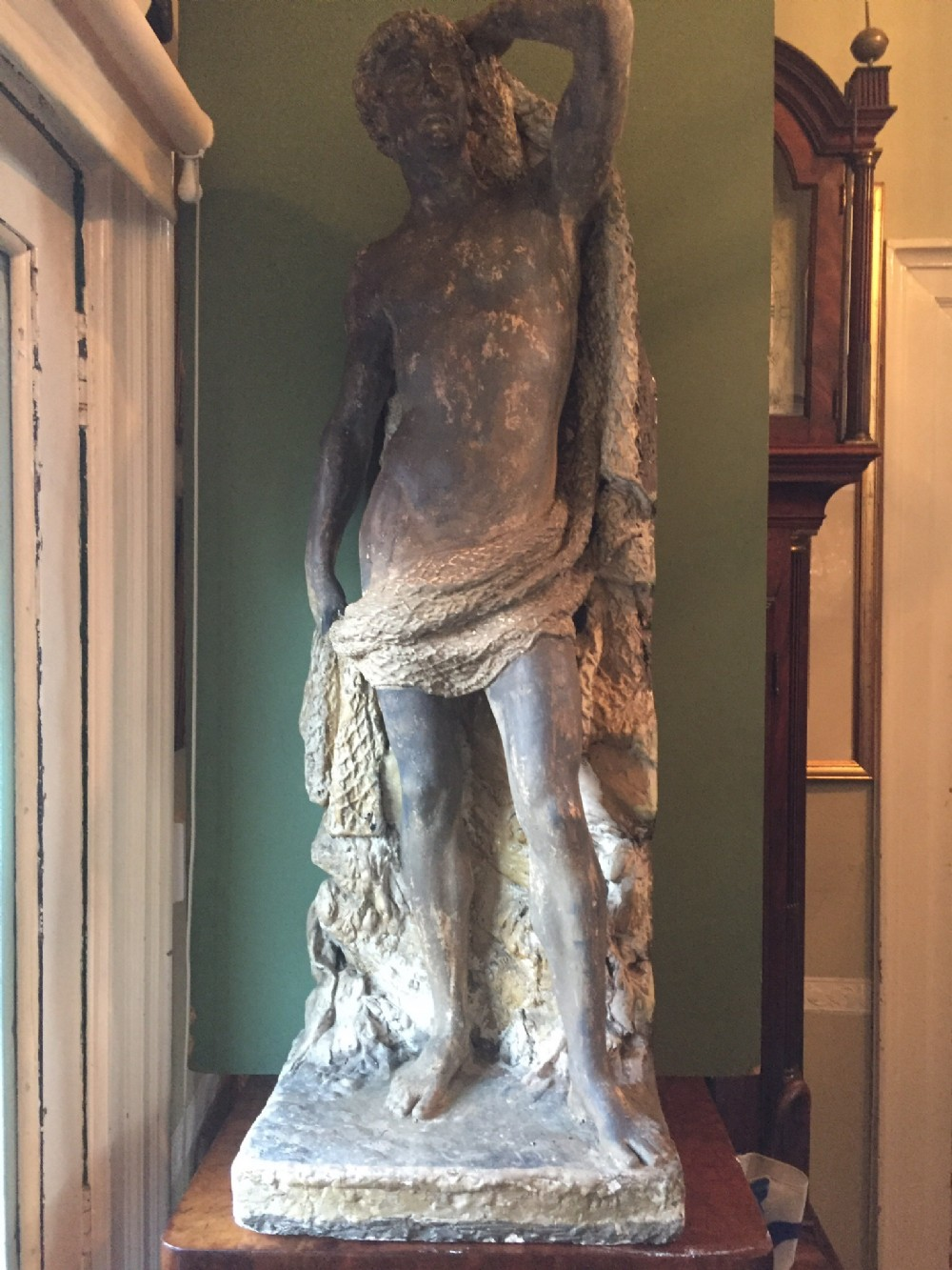 c19th 'countryhouse' cast plaster classical figure