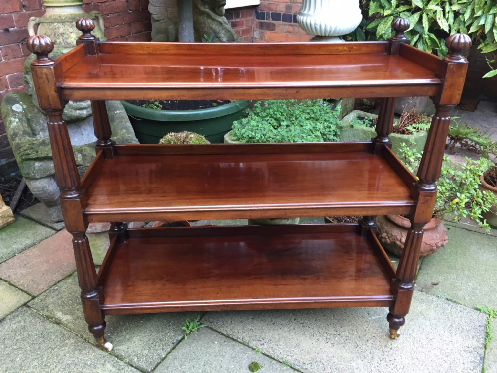 c19th william iv period mahogany 3tier buffet or dumbwaiter