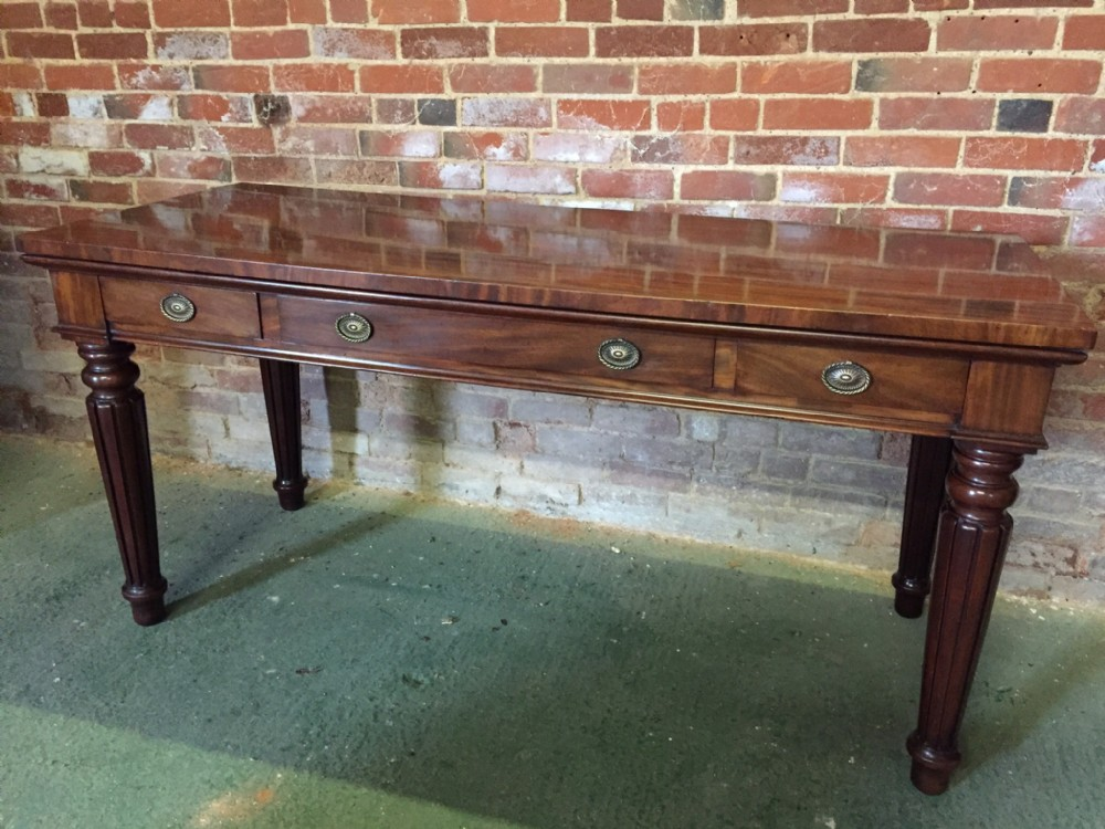 early c19th george iv period mahogany servingconsole table