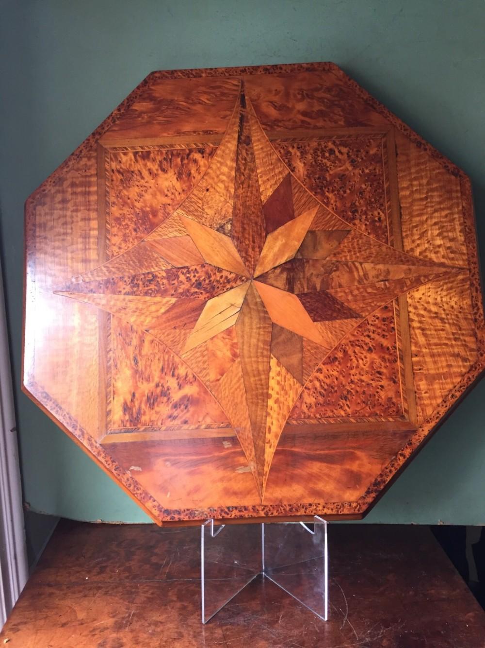 late c19th new zealand indigenous specimenwood veneered table top