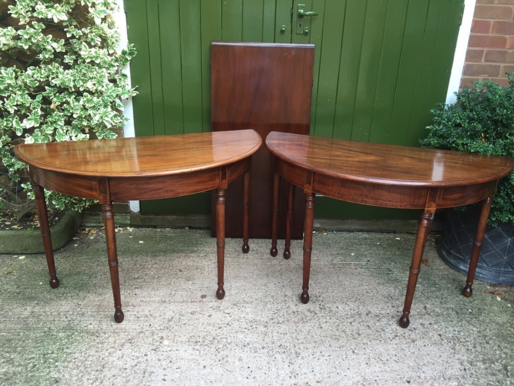 late c18th george iii period mahogany dended dining table of highly adaptable format