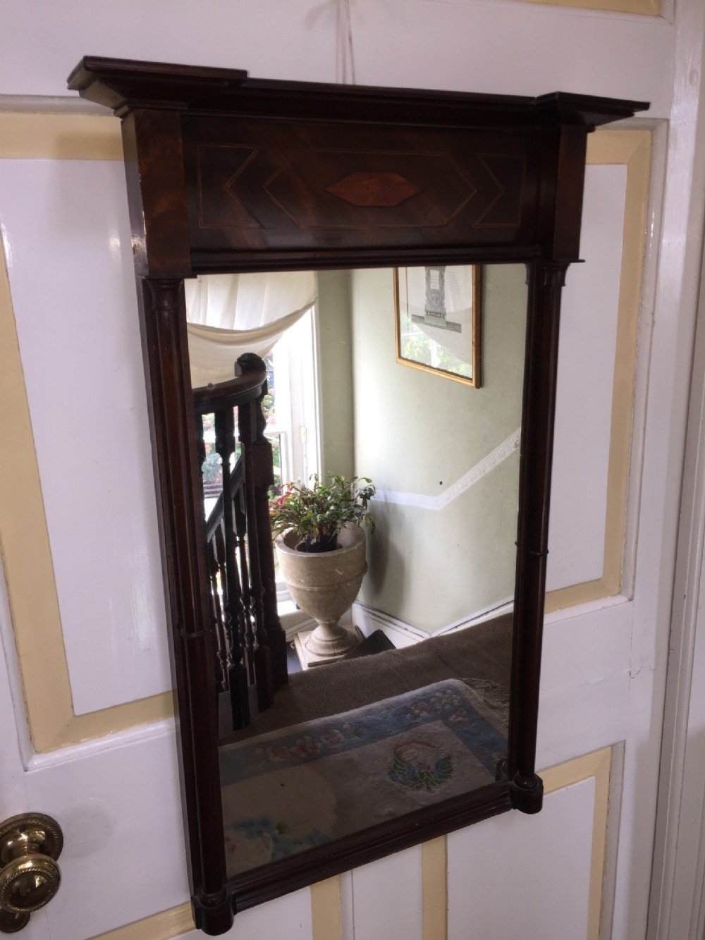 small early c19th regency period mahogany pier mirror